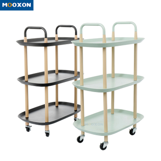 Nordic Home Service Trolley Shelf Storage Rack Kitchen Rolling Organizer Cart