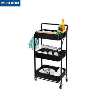 High Quality 3 Tier Bathroom Stand Trolley Rolling Storage Organizer Rack