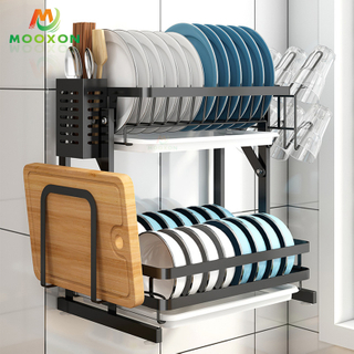 Space Save Foldable Stainless Steel Kitchen Dish Drainer Rack