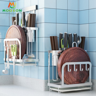Kitchen Multifunction Stainless Steel Organizer Utensil Drying Rack Knife Block