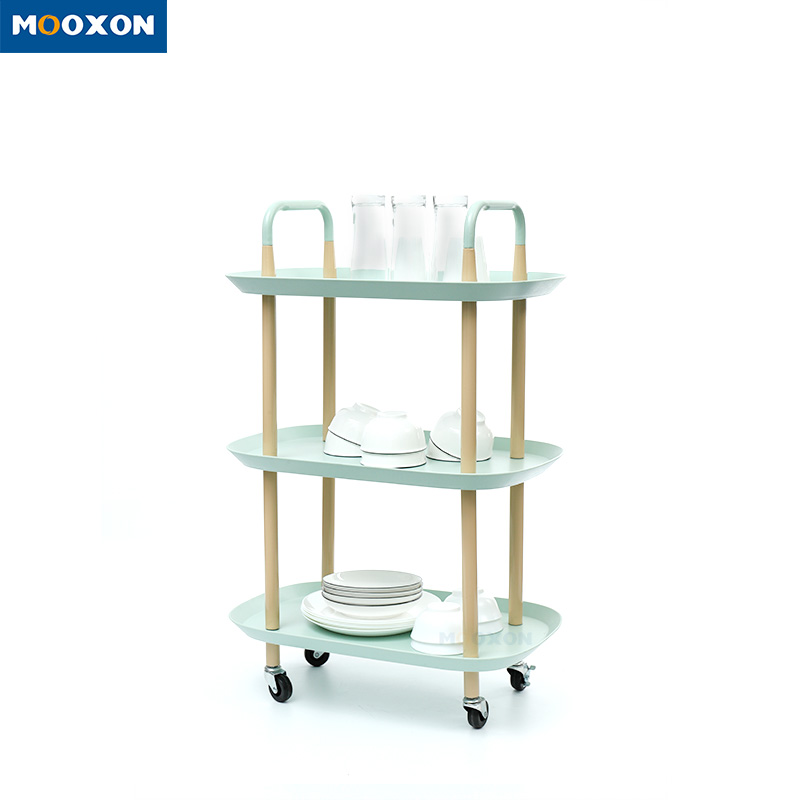 2/3 Tiers Metal Nordic Mobile Serving Cart Kitchen Organizer Storage Trolley Rack