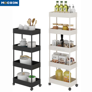 Kitchen Rolling Mesh Cart Kitchen Trolley Holder with Drawers