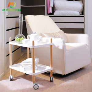 High Quality Plastic Rolling Trolley Bathroom Countertop Storage Rack