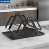 Kitchen Drainer Stainless Steel Dryer Foldable Holder Plate Dish Drying Rack