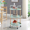 2/3 Tier Mobile Rolling Cart Kitchen Storage Craft Cart Food Trolley Office Kitchen Furniture