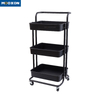 Mesh Rolling Cart Multifunction Utility Cart Kitchen Storage Trolley Shelving Moving Rolling Tool Cart