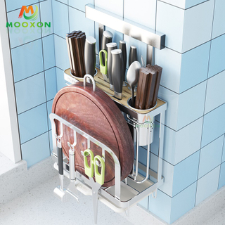 High Quality Utensil Storage Universal Stainless Steel Knife Block Kitchen Holder Rack