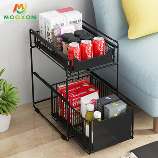 Good Capacity Iron Expandable Stackable Shelf Organizer Rack Under The Sink Rack