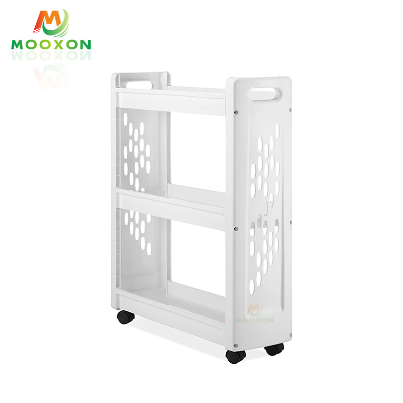 Easy To Instal Metal Multifunction Rolling In Hand Cart Trolley Kitchen Storage Holder