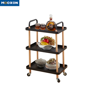 2/3 Tier Storage Shelf Service Hand Cart Office Bathroom Kitchen Furniture Rolling Carts And Trolleys