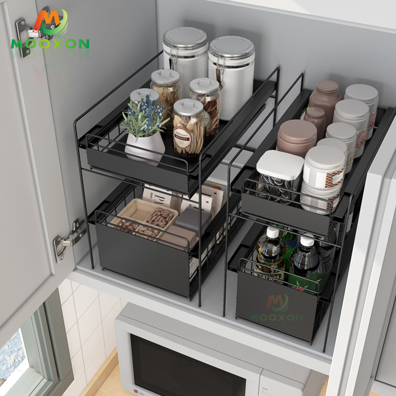 Kitchen/Bathroom/Desk 3 Tiers Sliding Drawer Under Sink Organizer