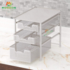 Easy To Instal Stackable Metal Storage Racks Kitchen Sliding Drawer Organizers