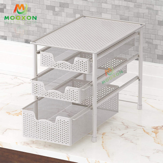 Good Capacity Iron Stackable Shelf Organizer Rack Under The Sink Rack