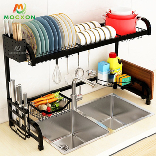Multifunction Dish Drainer Standing Type Stainless Steel Kitchen Rack