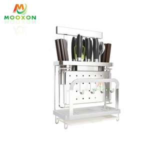Stainless Steel Kitchen Storage Organizer Rack Slotless Safe Knives Block Knife Holder