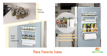 Kitchen Magnetic Fridge Side Storage Holder