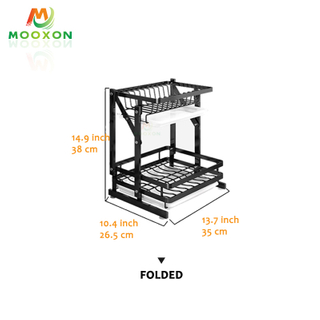 High Quality Kitchen Dryer Drying Stand Plate Drying Foldable Stainless Steel Dish Rack