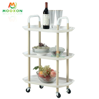 3-Shelf Durable Rolling Hand Cart Utility Trolley Organizer Home Office Kitchen Storage Holders