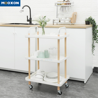3 Tier Rolling Cart Storage Shelving Trolley Household Kitchen Bathroom Salon Spa Beaty Movable Shelf
