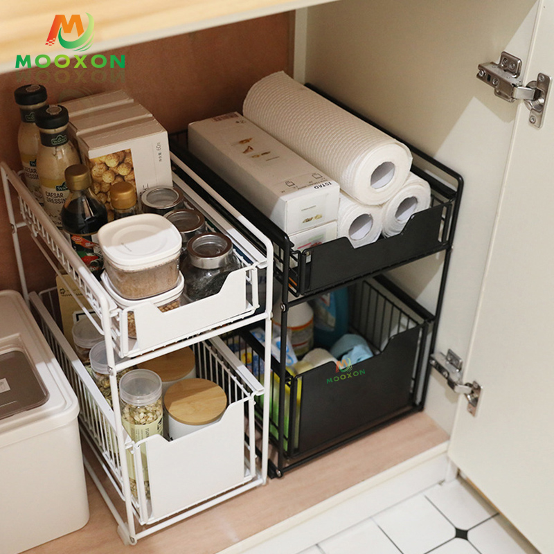 Three-Layer Contracted Kitchen Multifunction Expendable Under The Kitchen Sink Storage