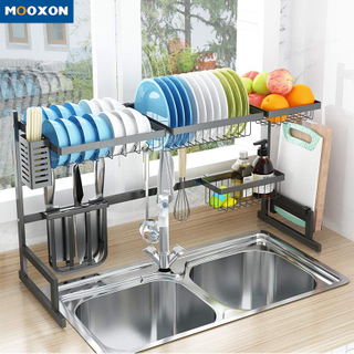 Factory Supplier Stainless Steel Dish Rack Kitchen Utensil Rack Dish Drainer