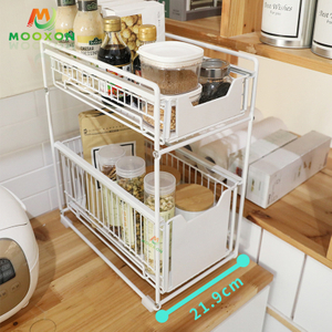 Easy To Install Expandable Stackable Countertop Shelf Organizer Rack