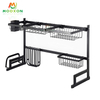 79cm Stainless Steel Kitchen Storage Organizer Over Sink Dish Drying Drainer Plate Rack