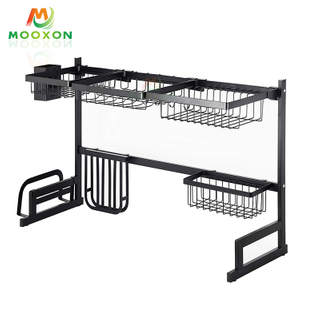 Home Organizer Storage 79cm Stainless Steel Kitchen Dish Drainer Rack