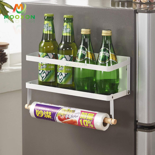 2020 New Design Foldable Refrigerator Side Jars Storage Hanging Magnetic Spice Rack