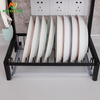 Home Furniture 2/3 Tier Kitchen Stainless Steel Black Dish Bowl Rack