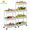 Kitchen Removable Corner Shelf 4 Tier Utility Pantry Storage Tower Organizer Rolling Trolley Rack