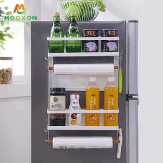 Kitchen Multifunction Hanging Storage Machine Rack Refrigerator Side Magnet Stand